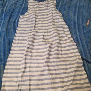 Womens JJILL linen sun dress XL